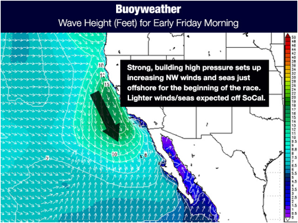 Wave Height for Early Friday